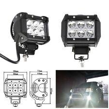 "2x 4""  18W LED Work Light Bar Beam Spot Offroad Driving Fog Lamps SUV ATV"