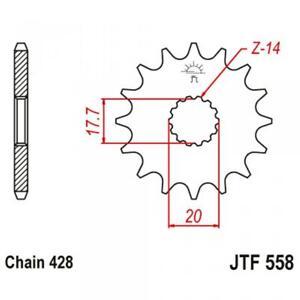 Pignon de sortie de boite JT Sprockets pour moto JTF558.14 / 14 dt P428 Neuf
