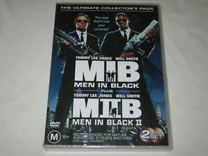 Men In Black + Men In Black 2 - 2 Disc Set - Brand New & Sealed - Region 4 - DVD