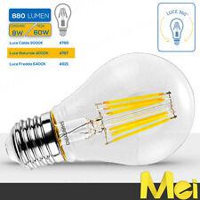 SHANYAO Lampadina a LED a filamento luce calda 2700K attacco E27 trasparente 8W