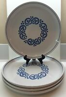 Denby ENGLISH BLUE 4 Dinner Plates EXCELLENT Condition