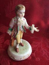Irish DRESDEN Lace Figurine ANTONIO W/Violin Emerald Collection  *FREE SHIPPING*