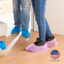 100Pcs Disposable Shoes Cover Non-Skid Booties Waterproof Indoor Carpet Overshoe