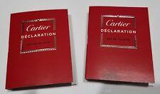 LOT of 2 Cartier Declaration Eau de Toilette EDT