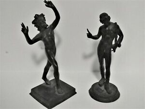 OH MY GODS! (2) Bronze Tall Greek God Statues Grand Tour Pieces.