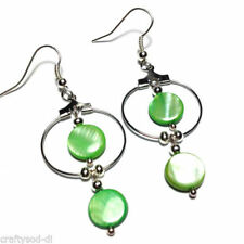 Mother of Pearl Drop/Dangle Costume Earrings