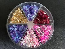Set Of 6 Types Of Beads For Crafts And Jewellery