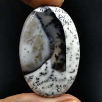 Cts. 49.20 Natural Scenic Dendritic Opal Cabochon Oval Exclusive Gemstone