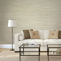 Wallpaper beige Textured Plain horizontal faux grasscloth lines wallcoverings 3D