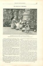 Les Délices de la Maternité /Jean-Michel Moreau le Jeune GRAVURE OLD PRINT 1892