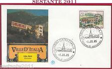 ITALIA FDC FILAGRANO VILLE D'ITALIA VILLA NITTI MARATEA 1985 ANNULLO TORINO Y885