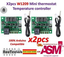 2pcs W1209 DC12V Digital Cool Heat Thermostat Thermometer Temperature Control