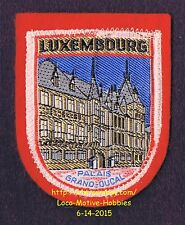 LMH PATCH Woven Badge LUXEMBOURG Luxemburg GRAND DUCAL PALACE Palais Duke Duchy