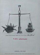 PUBLICITE MARCEL ROCHAS MOUSTACHE EAU DE TOILETTE BALANCE DE 1966 FRENCH AD PUB