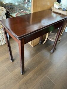 Antique Folding Mahogany Occasional Table, Side Table, Hall Table