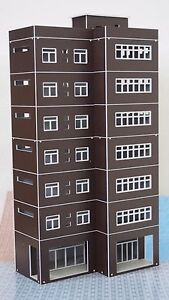 Outland Models Train Railway Modern Tall Business Building Office HO OO Scale