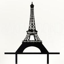 ROMANTICA Parigi Torre Eiffel CAKE Topper Matrimonio Compleanno Decorazione Acrilico