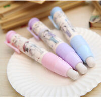 3 Colors Pen Shape Eraser Rubber Students Stationery School Home Kid Gift Pop S&