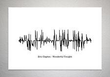 Eric Clapton - Wonderful Tonight - Sound Wave Print Poster Art