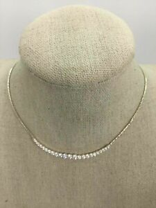 Silpada 925 Silver Crystal Pave Chain Necklace