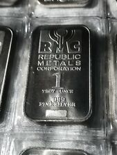 1 oz Silver Bar - Republic Metals Corporation (RMC) - 10 ounce sleeve