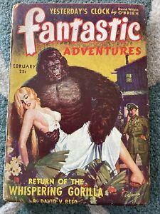 Fantastic Adventures Pulp Magazine - Return Whispering Gorilla February 1943 GGA