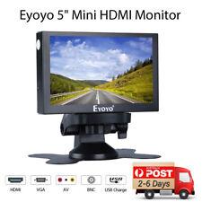 "Eyoyo Mini 5"" TFT LCD Monitor AV Video Audio HDMI VGA BNC For FPV Car CCTV DC12V"