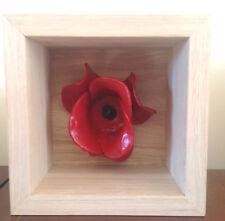'Sea of red' oak veneer London Poppy holder