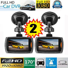 "2 Full HD 1080P 2.2"" Car DVR Vehicle Camera Video Recorder Night Vision Dash Cam"