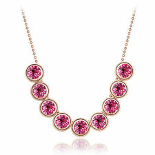 Modeschmuck-Halsketten aus Kristall mit Saphir