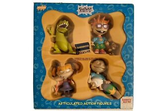Rugrats Action Figures Tommy Chuckie Angelica Reptar in Box by Blockbuster