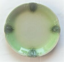 CAKE PLATE Vintage Ornate Pattern Two Tone Green No Maker's Mark