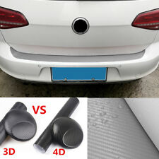 Universal 4D Car Trunk Threshold Edge Decor Sticker Bumper Trim Glossy Black NEW