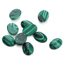10PCS Natural Stone Flatback Oval Dome Cabochons Beads 10X14mm/13x18mm/18x25mm