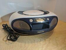 Philips AZ3300 Soundmachine Top Load Digital FM/AM Tuner CD Boombox Battery Opt.