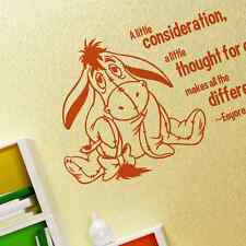Kids Eeyore Disney in vinile rimovibili murali stanza adesivi Home Decor Art (S)