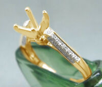 0.60 Ct 10K Yellow Gold Round Cut Semi Mount Setting Engagement Ring