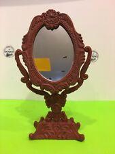 Vintage Ornate Cast Iron Vanity Tilting Mirror.