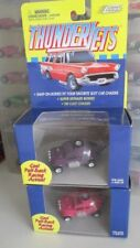 lot of 2 1999 Johnny Lightning Thunderjets VW BAJA BUG purple & pink volkswagen