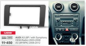 CARAV 11-450 Car CD Radio Fascia Surround Panel for AUDI A3 (8P/8PA)   2DIN