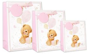 A Cute Baby Girl Teddy Gift Bag Congratulations New Baby Birth Celebration