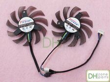 Dual 75mm 5pin PWM Cooling Fan For Asus GPU VGA Video Card Cooler FD7010H12S