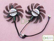 Dual 75mm 5pin PWM Cooling Fan For Asus GPU VGA Video Card Cooler FD7010H12S