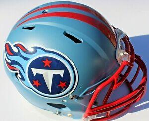 Tennessee Titans Custom Speed Blaze Football Helmet QB Decals Used Derrick Henry