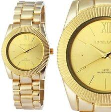 Damenuhr Quarz Armbanduhr edel elegant matt Gelbgold Gold 150/32 Excellanc