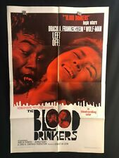 Blood Drinkers 1966 One Sheet Movie Poster Horror Dracula