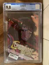 CHAMPIONS OUTLAWED #1 variant 2nd print CGC 9.8 WP MS MARVEL COMIC 2020 Infante