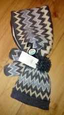 New Marks And Spencer Charcoal Mix Hat/Scarf/Mitten Set Age 3/6 Years