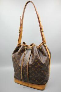 LOUIS VUITTON Petit Noe Monogram Brown Canvas/Leather Hand/Shoulder Bag Used SzM