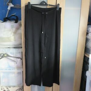 M&S Black Pull on trousers size 16